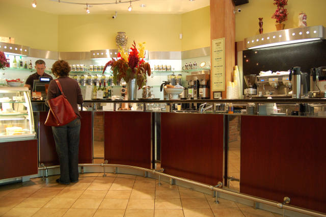 The Caffe Umbria Ordering Counter