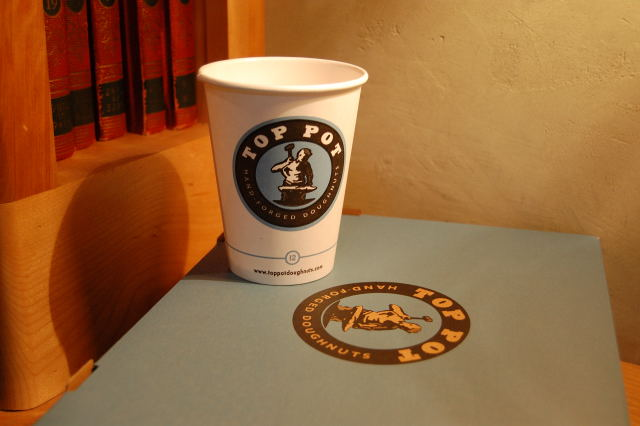 Top Pot Coffee and Box of Doughnuts