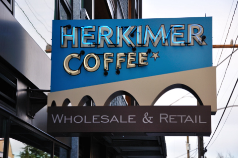 herkimer coffee sign