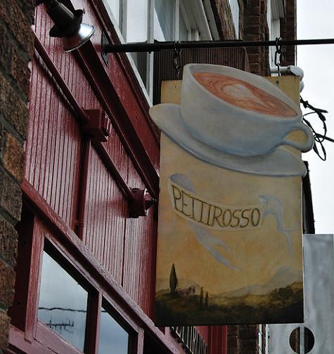cafe pettirosso sign