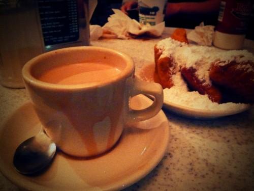 Hot Chocolate at Cafe Du Monde by Kathleen VanDerAa